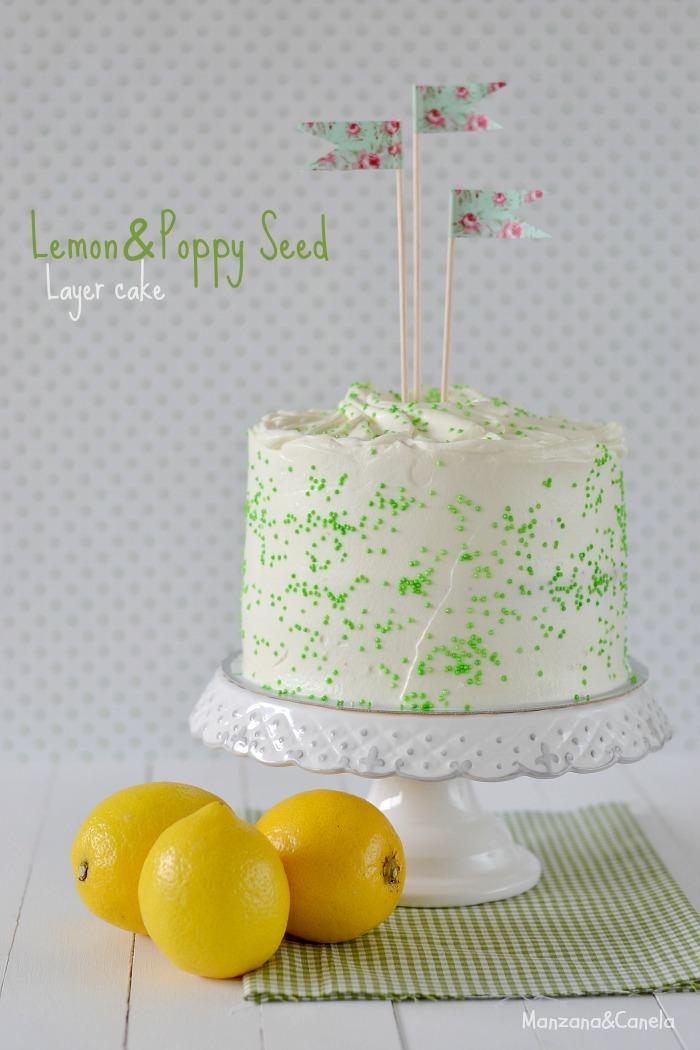 Layer cake de limón y semillas de amapola