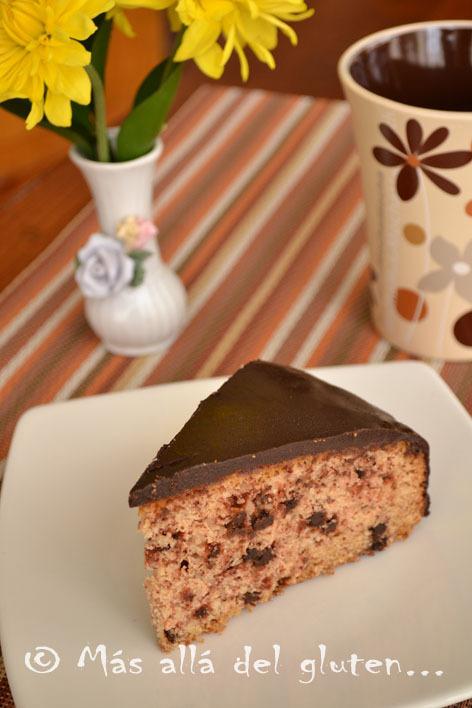 Torta con Chispas de Chocolate (Receta GFCFSF, Vegana)