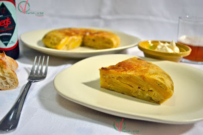 Tortilla de patatas y calçots