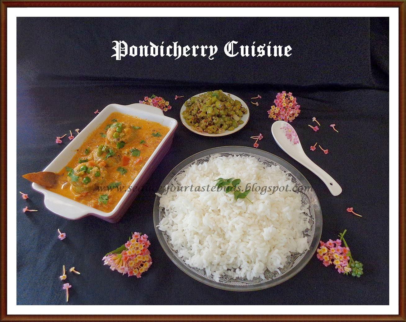 Urulaikizhangu Podalangai Turuttu Curry & Beans Fugath - Pondicherry