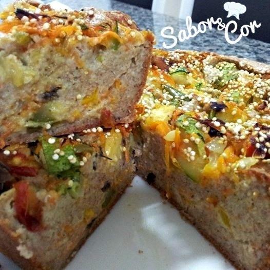 torta de atum com farinha de trigo integral