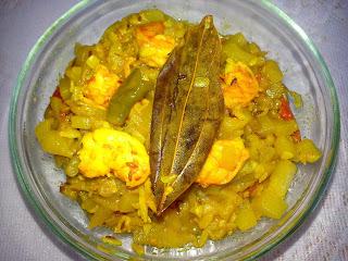 Lau chingri (bottle gourd with prwan) easy steps