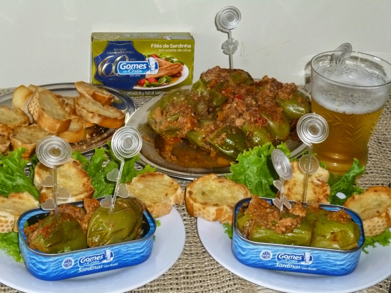 JILÓ RECHEADO COM SARDINHA EM LATA (aperitivo)