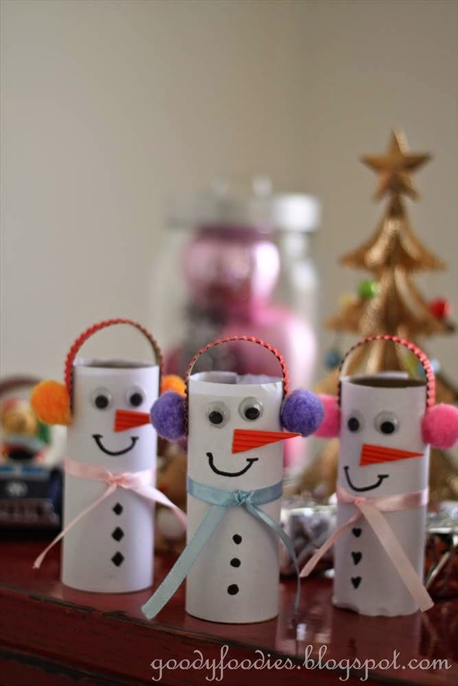 Easy Christmas Crafts for Kids: How to Make a Snowman with Toilet Roll