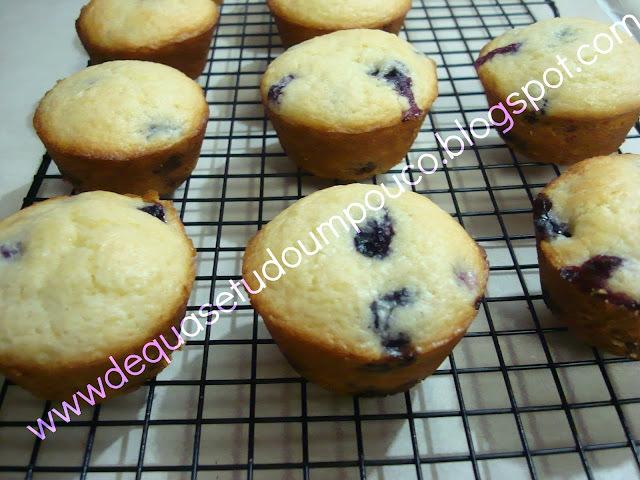 Muffins de blueberries fofinho