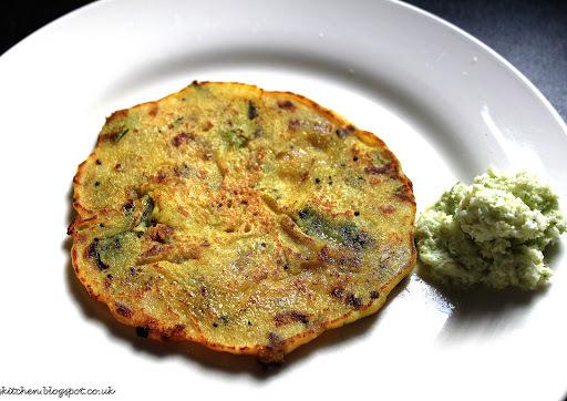 Utthappam - featuring semolina, plain flour & yogurt