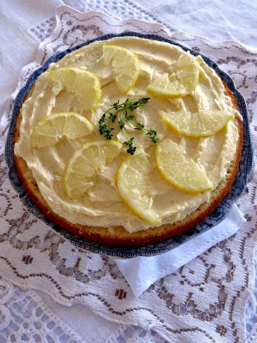 una torta diferente | limón y tomillo