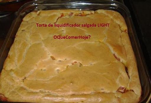 Torta salgada de liquidificador - Massa tradicional