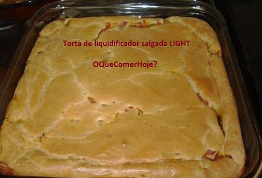 torta escarola light de liquidificador