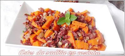 Salada de abóbora com carne Seca Paineira /Salada de jerimum com Carne seca Paineira .