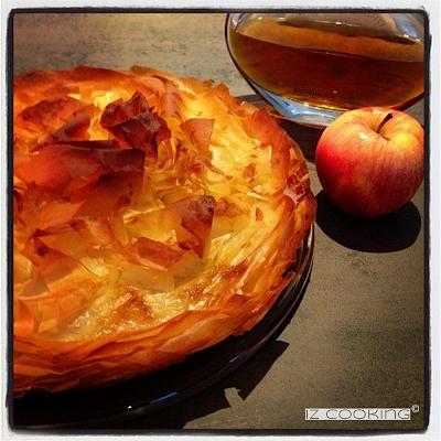 Croustade aux pommes simplissime (merci la pâte filo !)