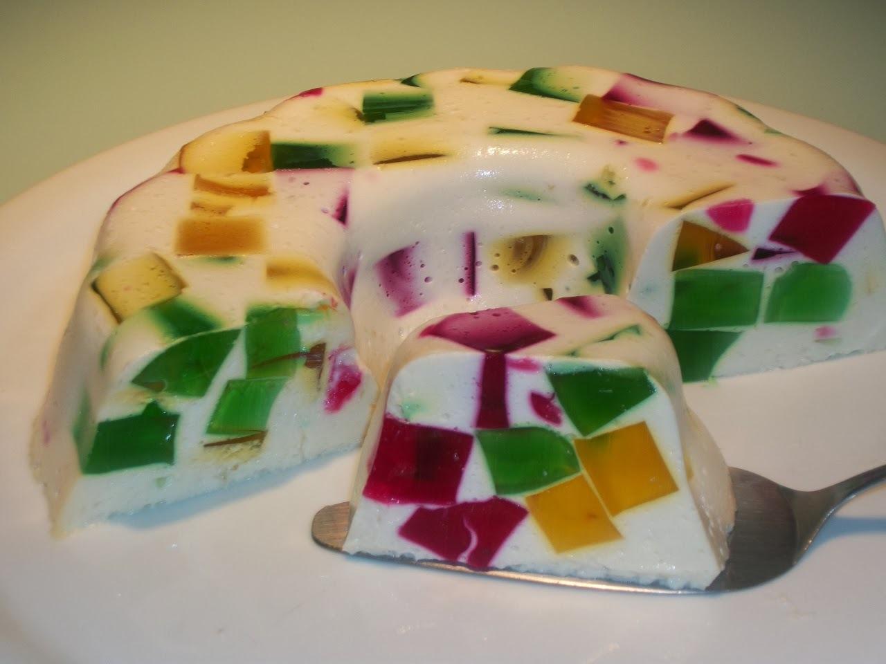 de gelatina feita no liquidificador