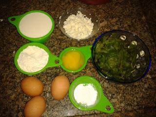 Souflê de espinafre com ricota/queijo minas