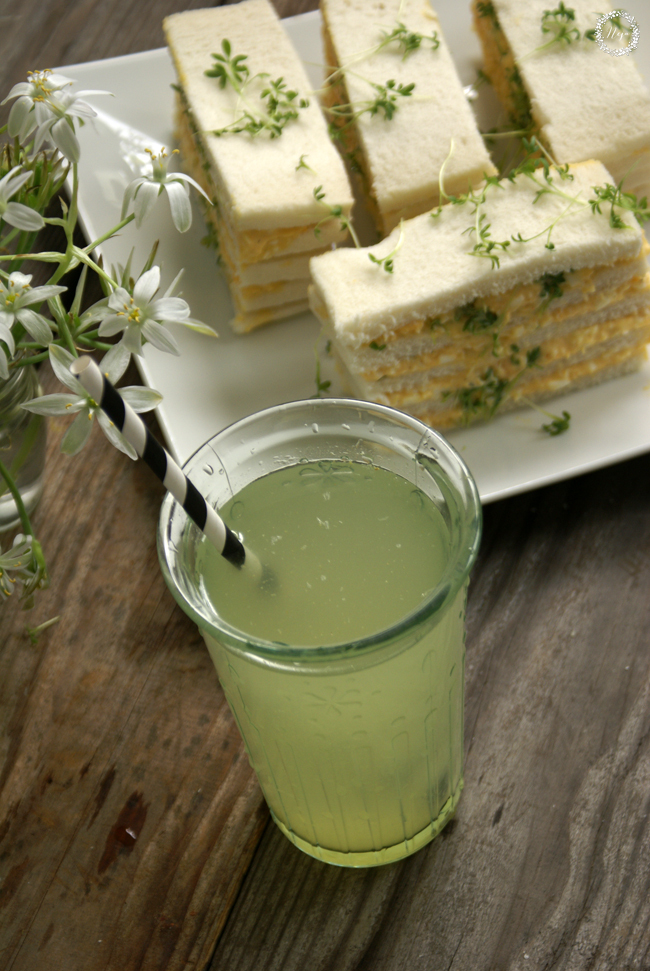 Cress Egg Salad Tea Sandwiches / 'Finger' jajčni sendviči z vrtno krešo