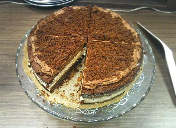 Čokoládovo - gaštanová torta