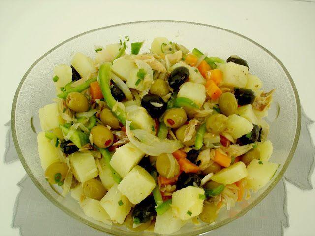 Salada de Filé de Bacalhau