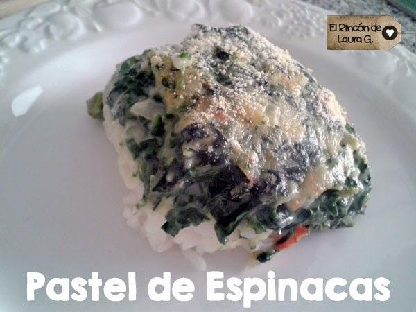 Receta de Pastel de Espinacas a la crema con Arroz