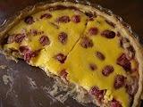 A summer treat - Rhubarb & Strawberry Tart