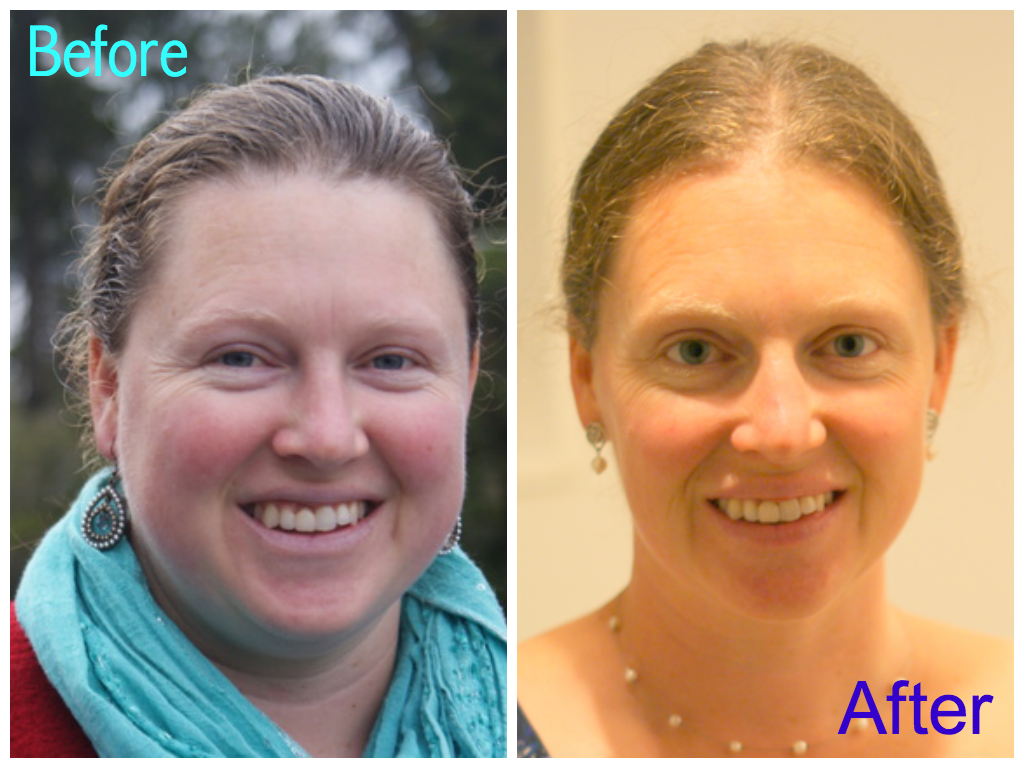 Trim Healthy Mama success story - my sister-in-law Louise