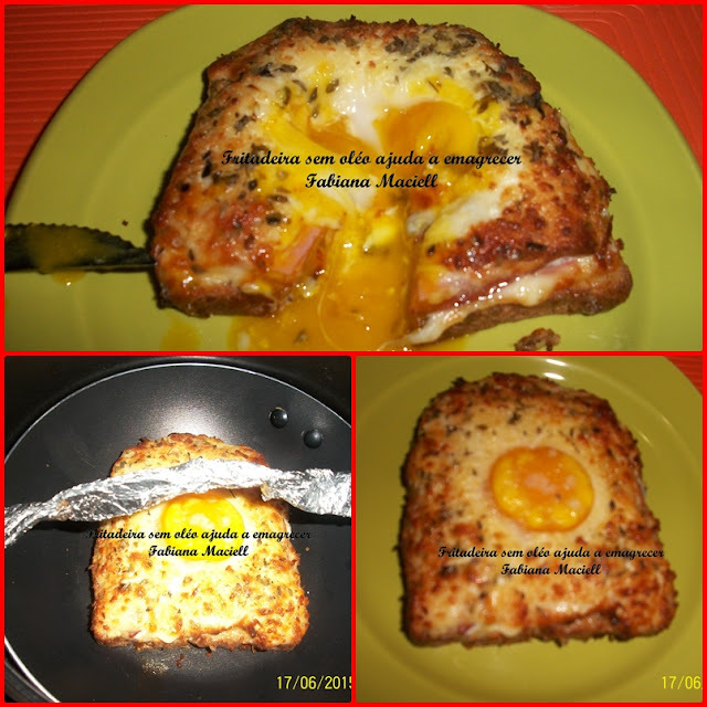 Torrada com ovo escabelado na Fritadeira sem óleo AirFryer
