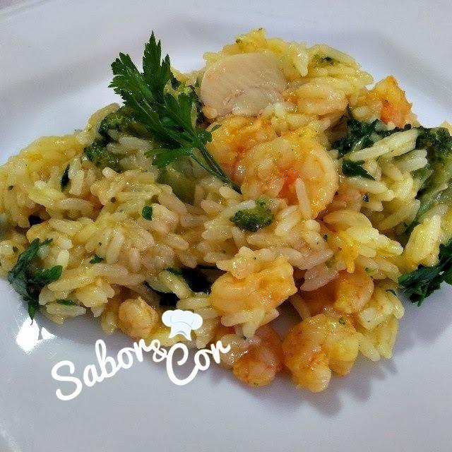 acompanhamento de risoto de camarao com arroz arborio