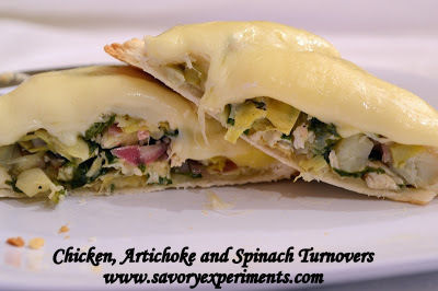 Chicken, Artichoke and Spinach Turnovers