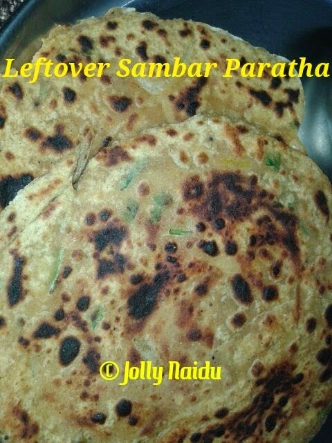 Fusion Leftover Sambar Paratha | How To Make Sambar Paratha