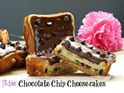 Mini Chocolate Chip Cheesecake