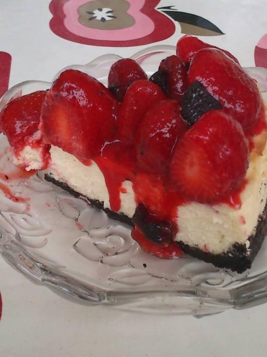 Cheesecake Oreo με φράουλες και γενέθλια