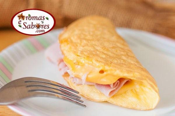 de omelete de tapioca