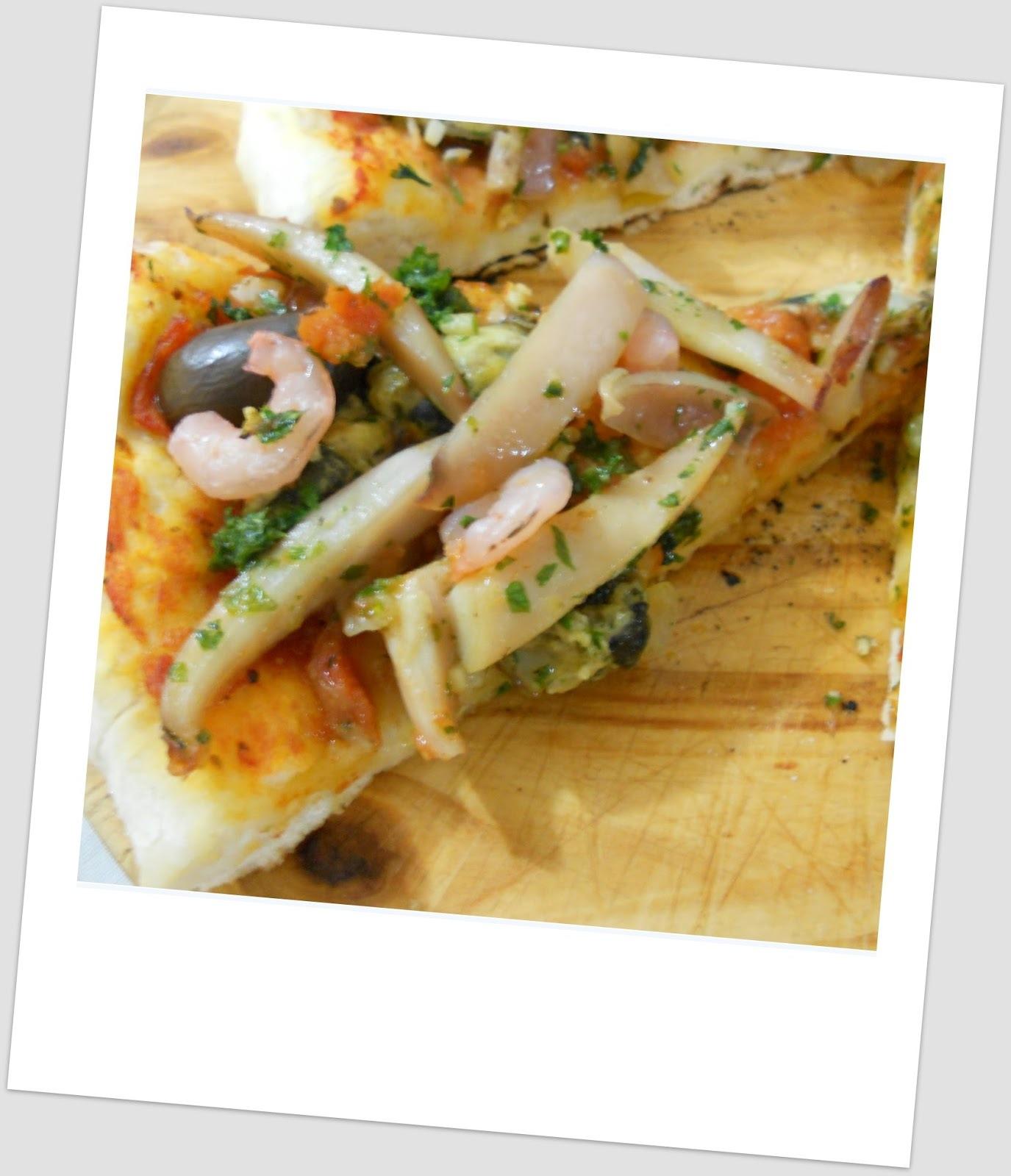 Pizza frutti di mare .... Monte Hermoso al estilo de Arturo Uslar Pietri