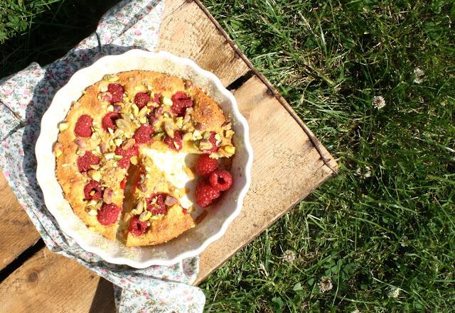 Summer Raspberry Cake. Letná malinová bublanina.