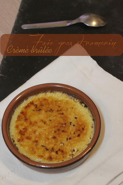 Crème brûlée foie gras et romarin