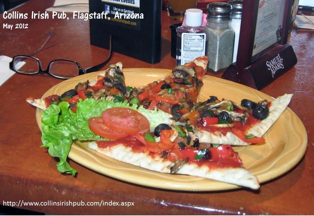 Pizza de Cogumelos e Azeitonas, Flagstaff, Arizona