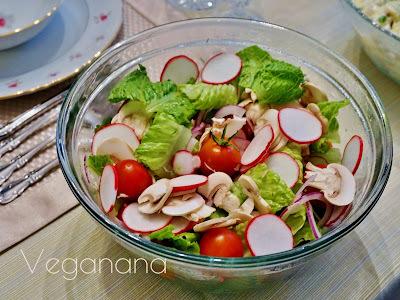 Salada de Rabanetes com Cogumelos