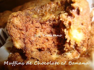 Murffis de Banana c/ Chocolate