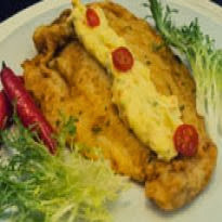 de filé de peixe panga empanado