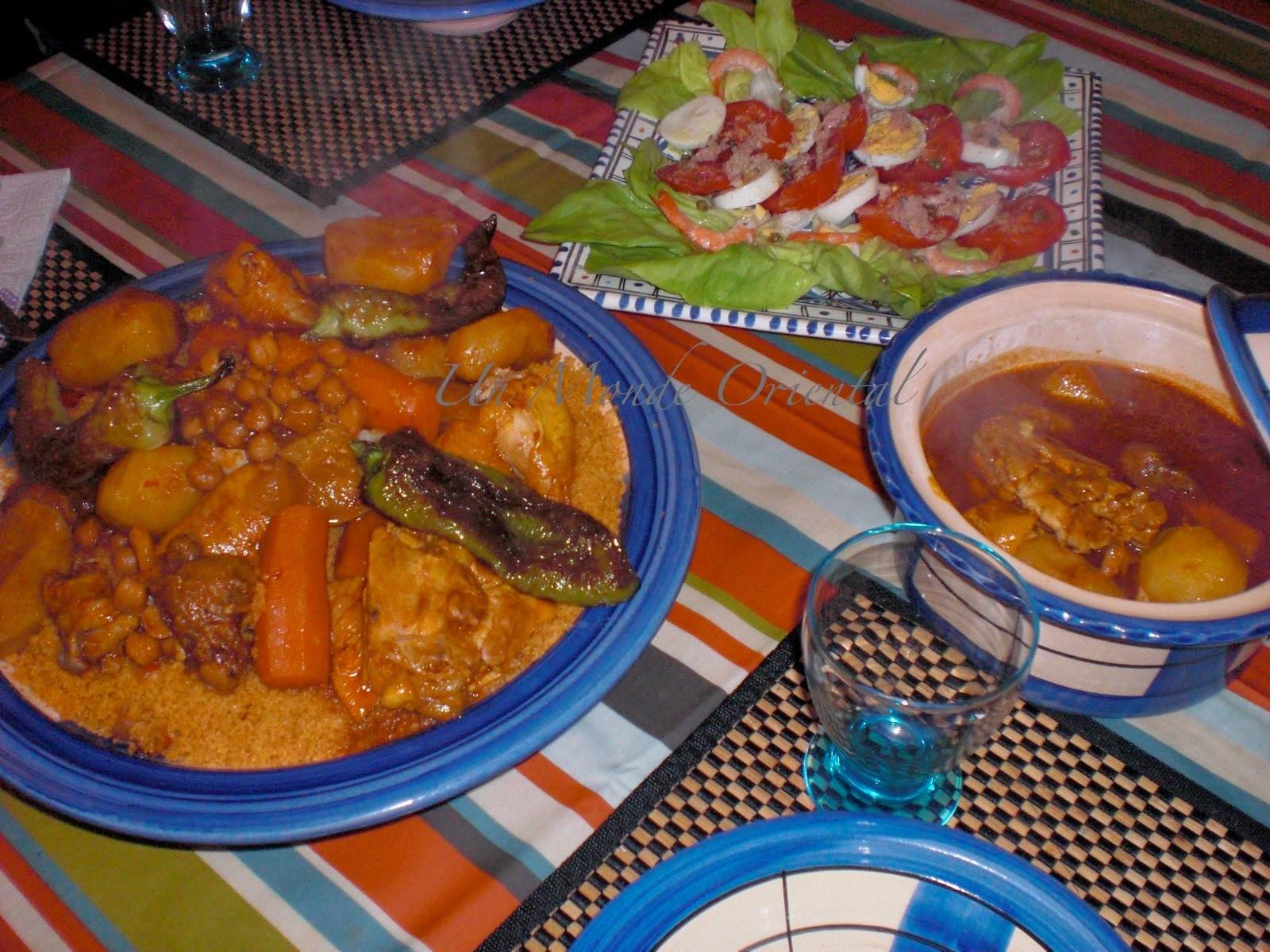 Couscous marocain aux légumes et poulet