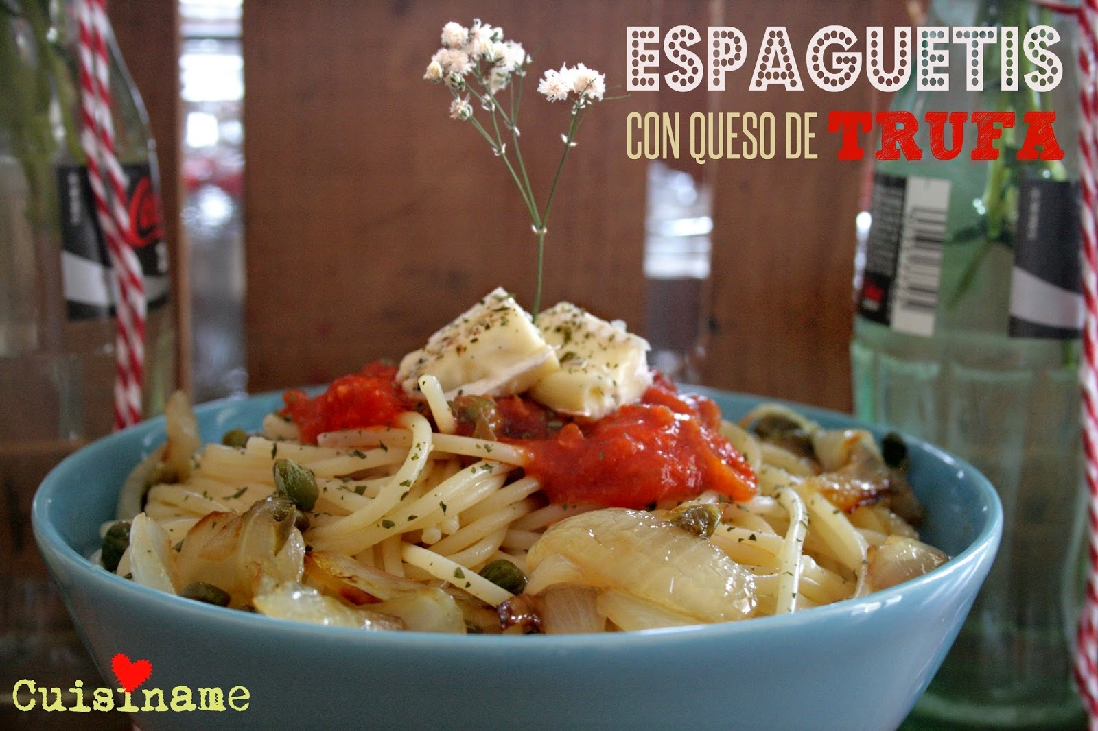 Espaguetis con Tomate   Recetas fáciles
