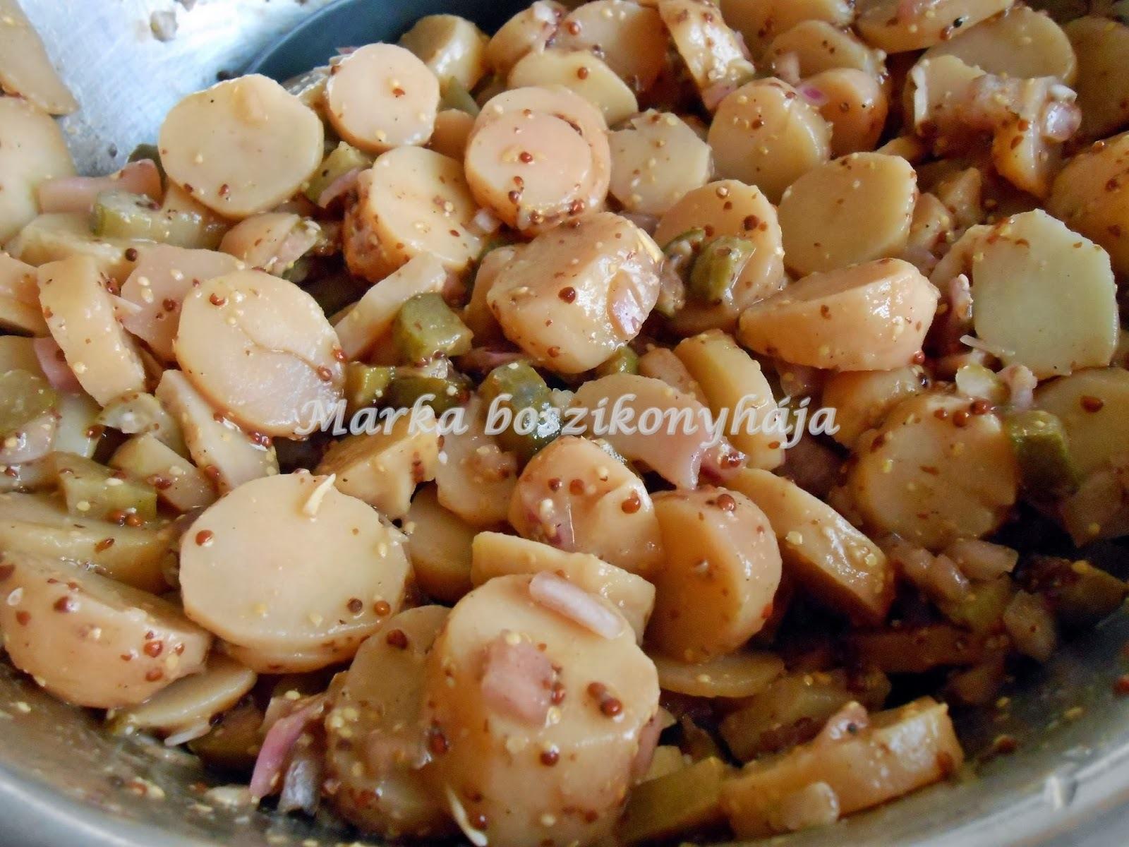 Mustáros-balzsamecetes krumplisaláta