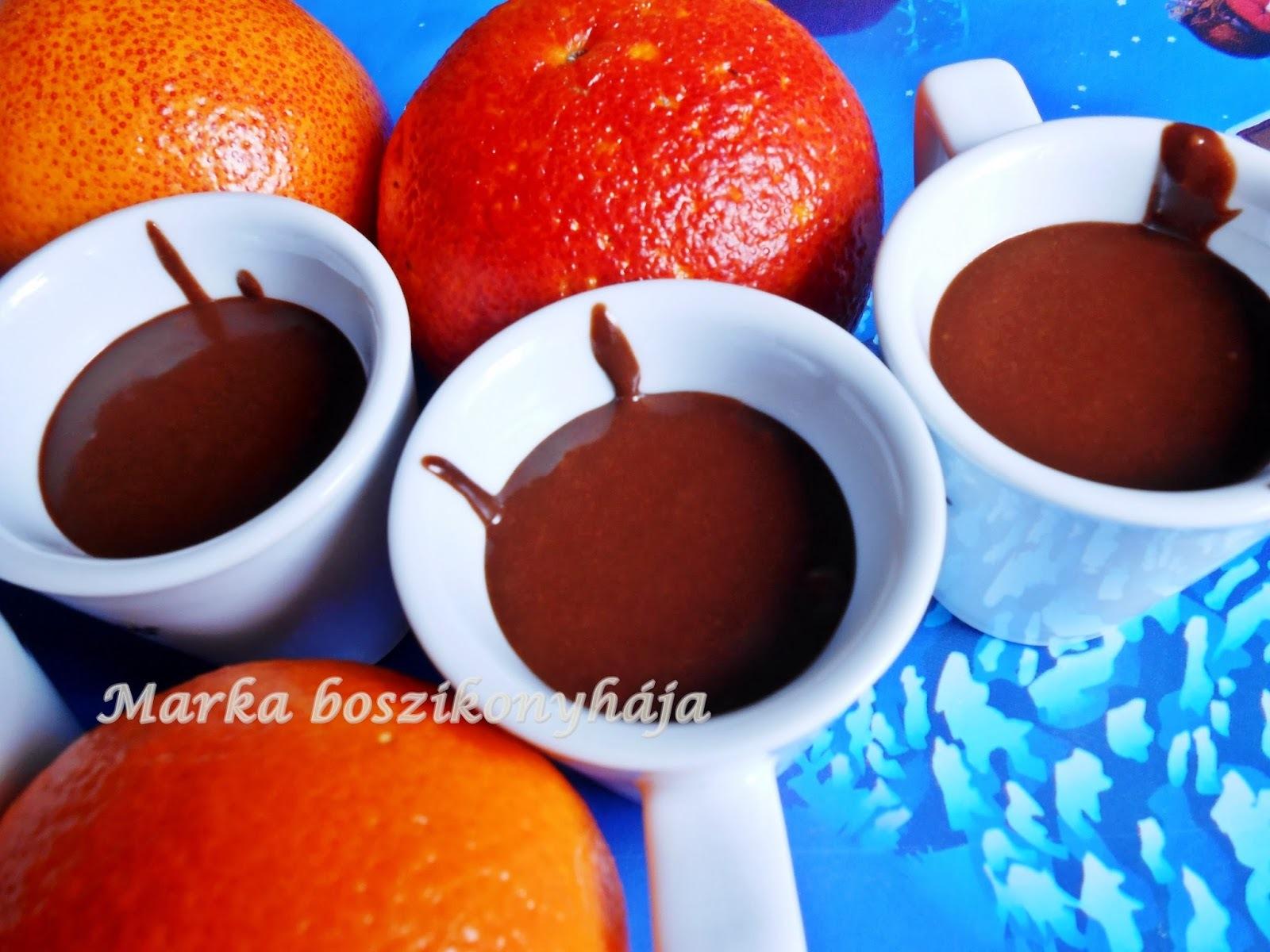 Selymes vérnarancsos csokiganache