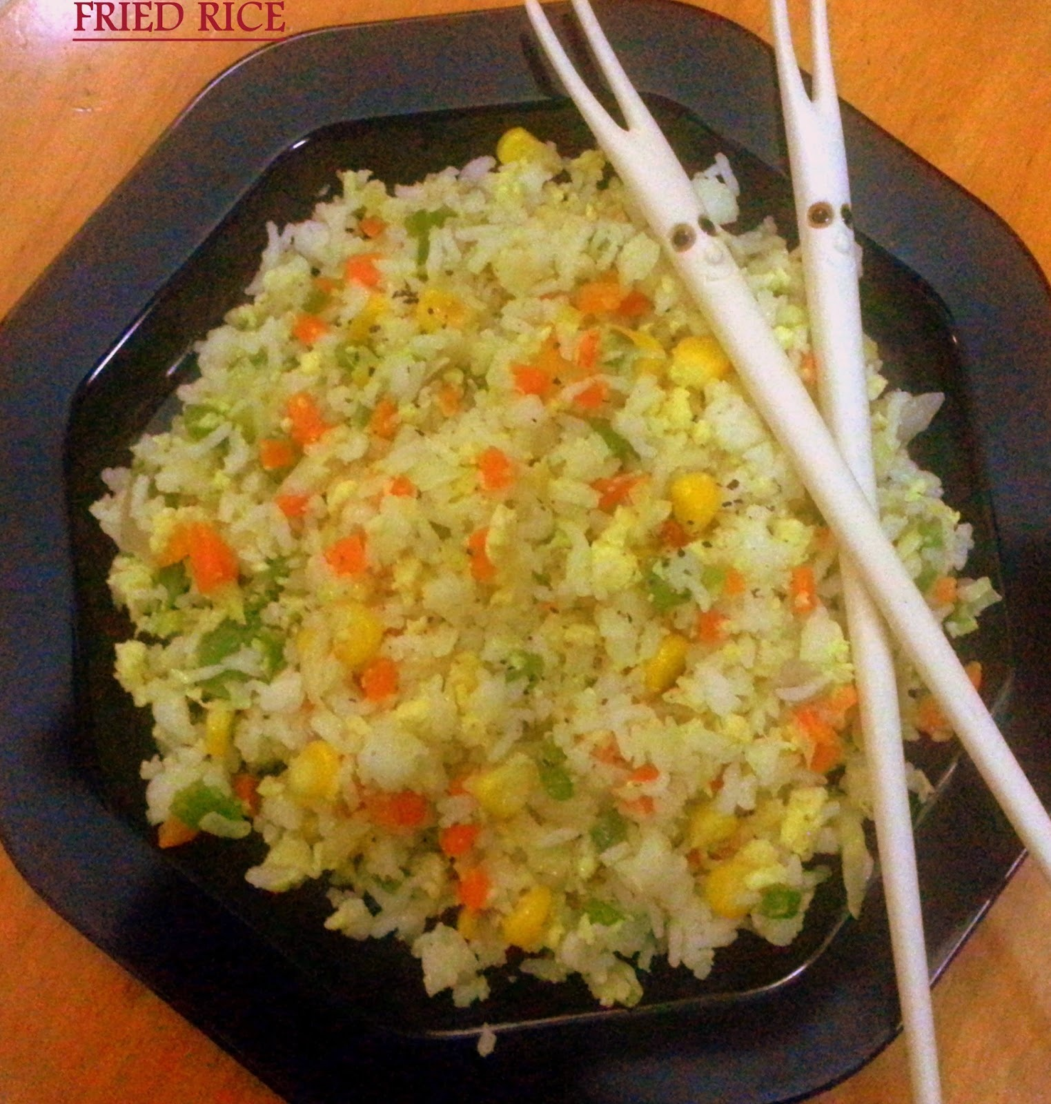 Fried rice in rice cooker