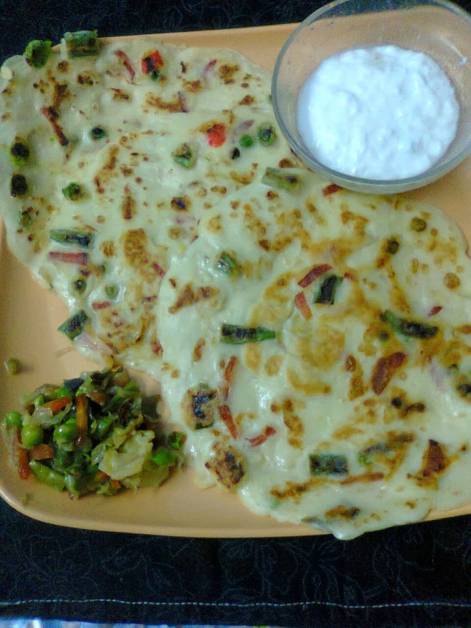 Vegetable Pancake / Savoury Pancake