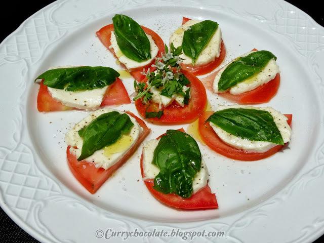 Ensalada caprese - Caprese Salad