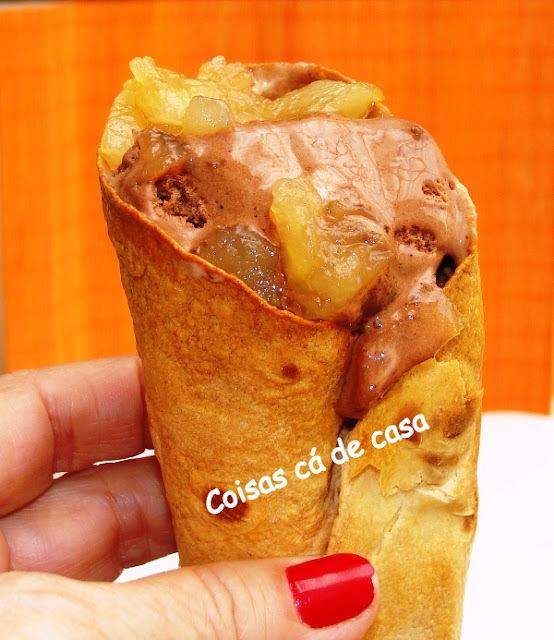 Casquinha para sorvete com pão wrap