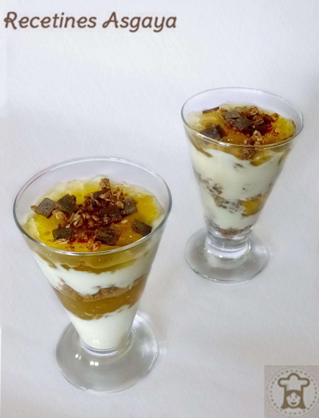 Copa de Yogur y Mermelada de Melón