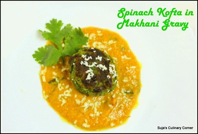 Spinach Kofta in Makhani Gravy(Palak Kofta Curry)