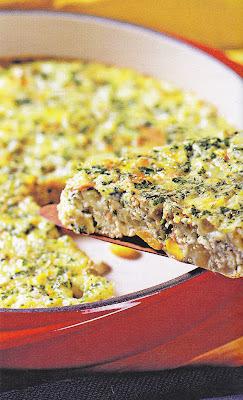 omelete de atum e seleta de legumes
