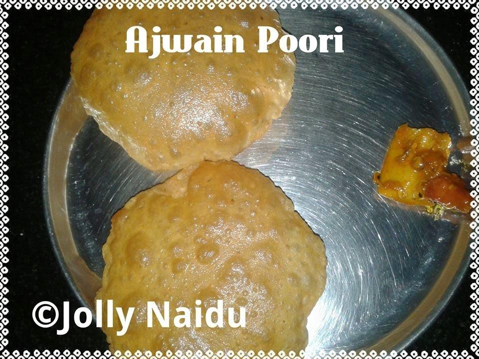Crunchy Ajwain Poori Recipe