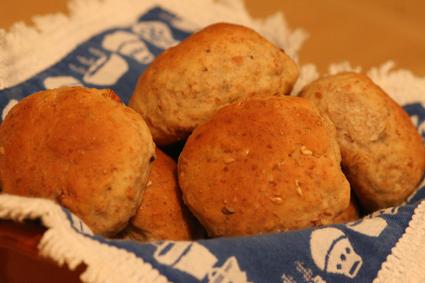 Mini-pães integrais